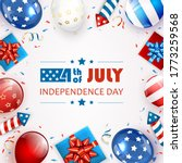 independence day background.... | Shutterstock . vector #1773259568