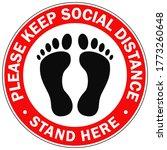 please keep social distance....   Shutterstock .eps vector #1773260648