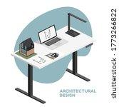 architect isometric desktop... | Shutterstock .eps vector #1773266822