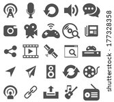 media and entertainment icons | Shutterstock .eps vector #177328358