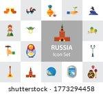 russia icon set. kremlin saint...   Shutterstock . vector #1773294458