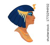 egyptian queen cleopatra... | Shutterstock .eps vector #1773294932
