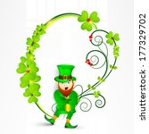 happy st. patrick's day... | Shutterstock .eps vector #177329702