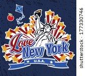 love new york sticker | Shutterstock .eps vector #177330746