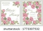 wedding invitation frame set ...   Shutterstock .eps vector #1773307532
