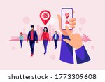 smartphone health covid... | Shutterstock .eps vector #1773309608