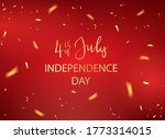 lettering 4th of july and...   Shutterstock . vector #1773314015