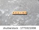 Psalms Word Written On Wood...