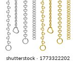 silver and gold metal chains...   Shutterstock .eps vector #1773322202