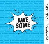 comic speech bubble with text... | Shutterstock .eps vector #1773331352