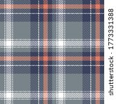 Plaid Pattern Vector In Blue ...