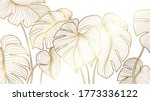 luxury gold nature background... | Shutterstock .eps vector #1773336122