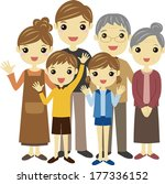 a family  vector illustration | Shutterstock .eps vector #177336152