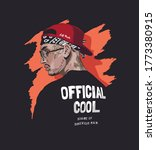 cool man with face tattoo in... | Shutterstock .eps vector #1773380915