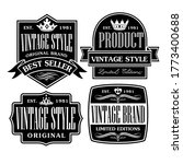 vintage and retro badge label... | Shutterstock .eps vector #1773400688