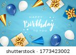 lettering happy birthday on...   Shutterstock . vector #1773423002