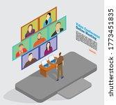3d illustration flat design... | Shutterstock .eps vector #1773451835