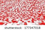 red white blocks | Shutterstock . vector #177347018