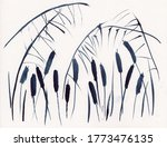 Watercolor Painting With Sedge  ...