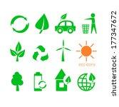 set of twelve environmental... | Shutterstock .eps vector #177347672