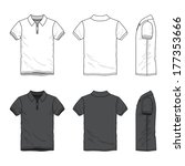 blank men's polo t shirt with...