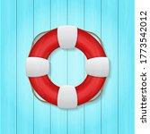 illustration of red lifebuoy on ...   Shutterstock . vector #1773542012