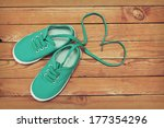 top view of a pair of shoes... | Shutterstock . vector #177354296