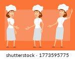 cartoon flat funny chef cook...   Shutterstock .eps vector #1773595775