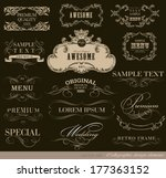 calligraphic design elements... | Shutterstock .eps vector #177363152