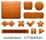 wooden ui. wood textured plate...