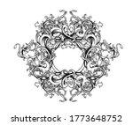 vintage baroque ornament ... | Shutterstock . vector #1773648752