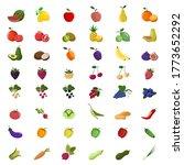 big set of fruits  berries and... | Shutterstock .eps vector #1773652292