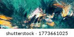 Abstract Painting Green Color...