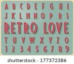 retro vintage style vector... | Shutterstock .eps vector #177372386