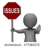 issues stop sign showing... | Shutterstock . vector #177383372