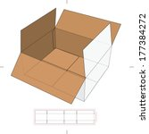 storage box with die cut layout | Shutterstock .eps vector #177384272