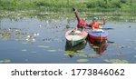 River Goryn. Ukraine. June 10 ...