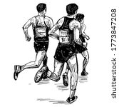 drawing of the running... | Shutterstock .eps vector #1773847208