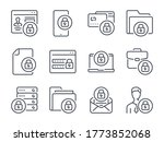 data protection line icons.... | Shutterstock .eps vector #1773852068
