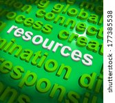 resources word cloud showing... | Shutterstock . vector #177385538