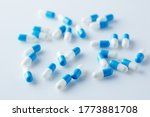 Blue And White Capsules Pill...