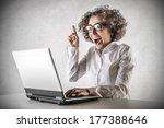 crazy technology | Shutterstock . vector #177388646