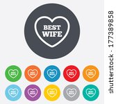 best wife sign icon. heart love ... | Shutterstock . vector #177389858