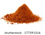 heap ground paprika isolated on ... | Shutterstock . vector #177391316