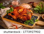 Still Life Of Homemade Chicken...