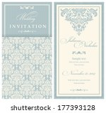 wedding invitation cards... | Shutterstock .eps vector #177393128