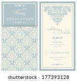 wedding invitation cards... | Shutterstock .eps vector #177393128