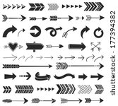 hand drawn graphic arrows | Shutterstock .eps vector #177394382