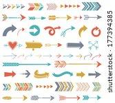 hipster arrows   Shutterstock .eps vector #177394385