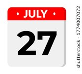 july 27 calendar icon with... | Shutterstock .eps vector #1774007072
